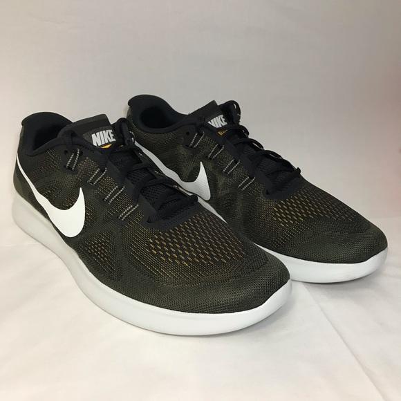 Nike Free RN 2017 Run Shoes Running Army Green NEW NWT